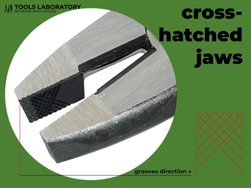 cross-hatched knurled jaws