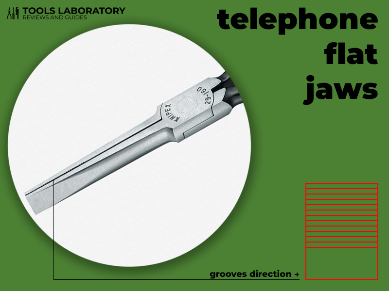 flat telephone jaws