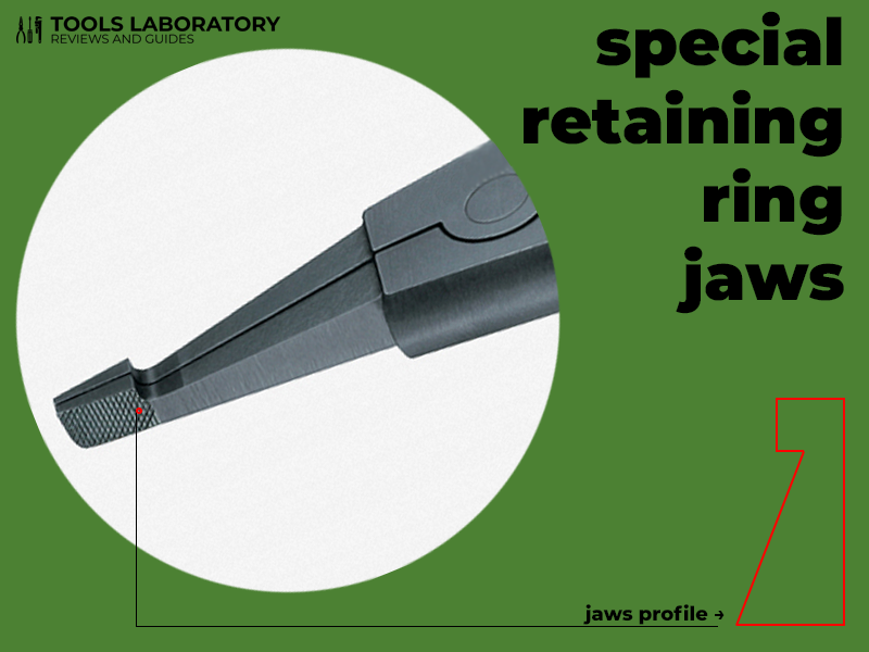 retaining ring jaws