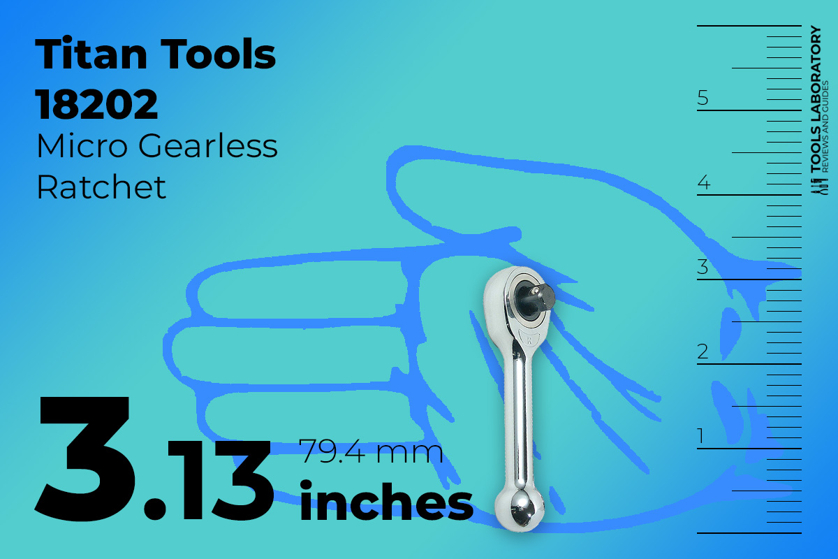 Titan Tools 18202 the smallest 3.13-inch length ratchet with stubby ratchet