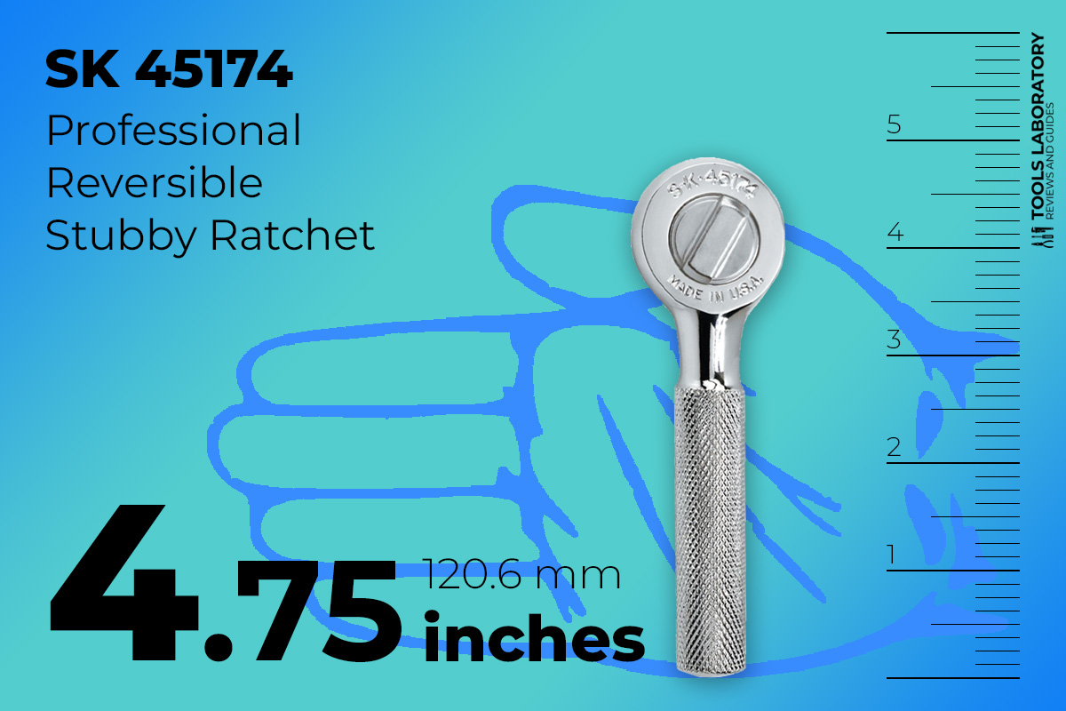 SK 45174 small 4.75-inch length ratchet with stubby ratchet