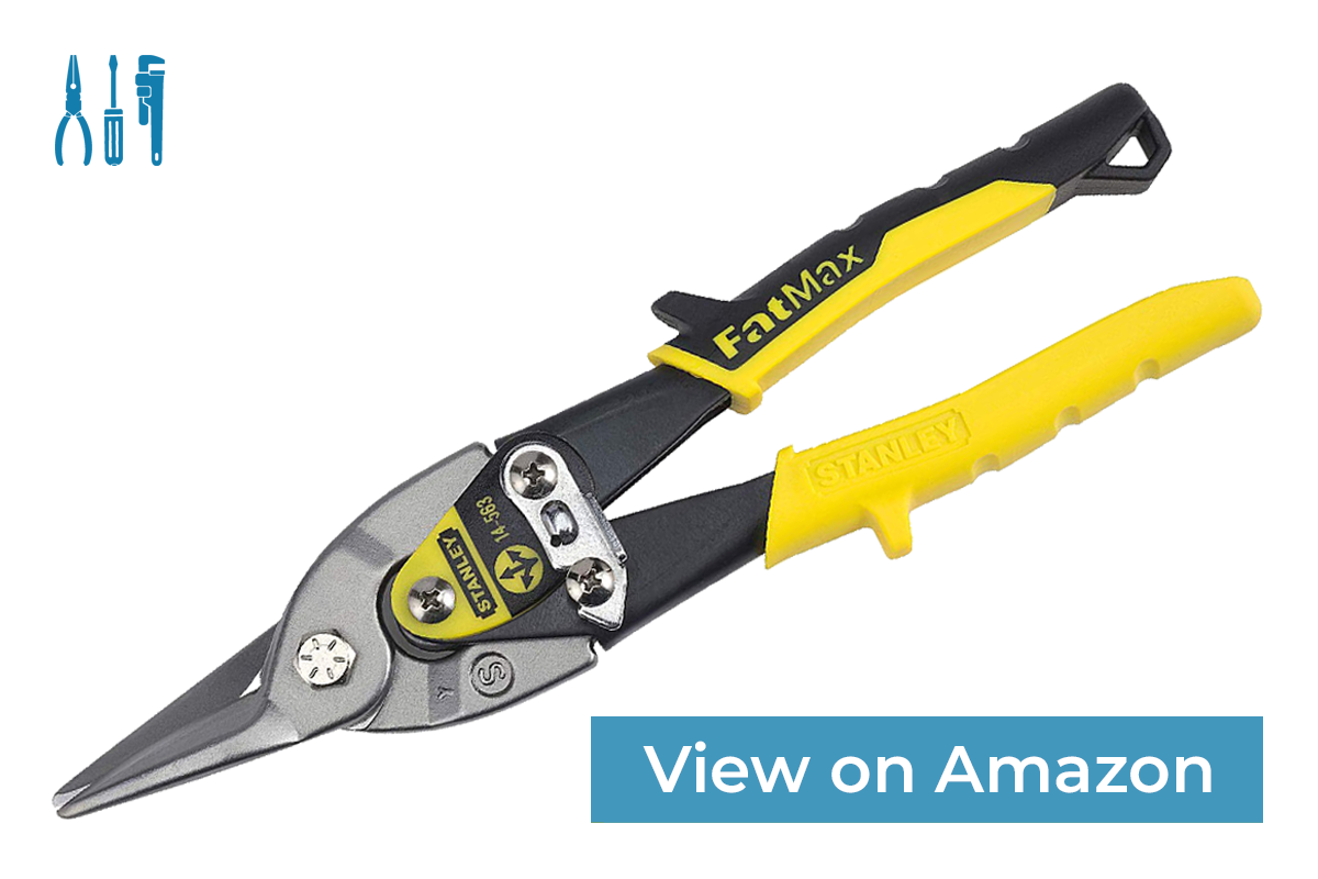 Stanley FatMax 14-563 — Best Aviation Snips for Cutting Thicker Materials