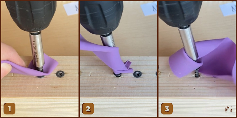 Remove a Stripped Phillips Screw — Rubber Band