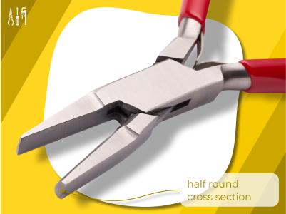 1303_Half Round Pliers (Ring Bending Pliers)
