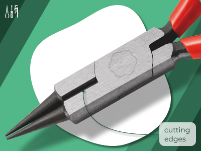 321_Round Nose Pliers with cutting edge (Jewellers' Pliers)